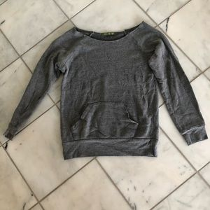 Wide Neck Grey Sweatshirt